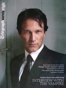 Telegraph Style magazine - Stephen Moyer cover (Autumn/winter 2009)