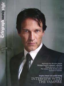 Telegraph Style magazine - Stephen Moyer cover (Autumn/winter 2009)