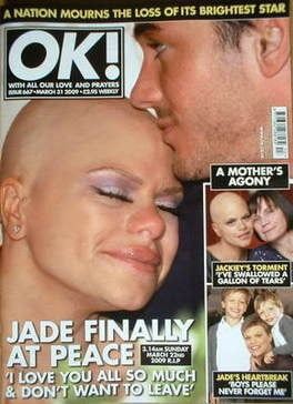 <!--2009-03-31-->OK! magazine - Jade Goody and Jack Tweed cover (31 March 2