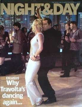 Night & Day magazine - John Travolta and Uma Thurman cover (13 March 2005)