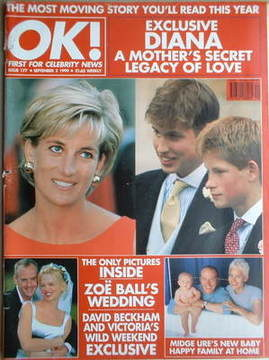 <!--1999-09-03-->OK! magazine - Princess Diana cover (3 September 1999 - Is