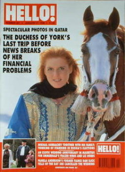 <!--1996-01-27-->Hello! magazine - The Duchess of York cover (27 January 1996 - Issue 391)