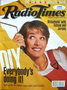 <!--1997-07-26-->Radio Times magazine - Carol Smillie cover (26 July-1 Augu