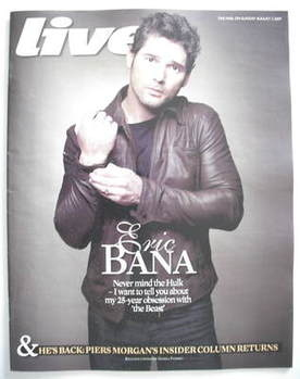 Live magazine - Eric Bana cover (2 August 2009)