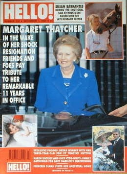 <!--1990-12-01-->Hello! magazine - Margaret Thatcher cover (1 December 1990