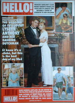<!--1991-01-19-->Hello! magazine - Lysette Anthony wedding cover (19 Januar