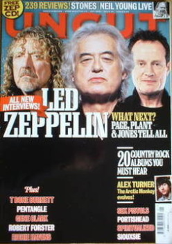 Uncut magazine - Led Zeppelin cover (May 2008)