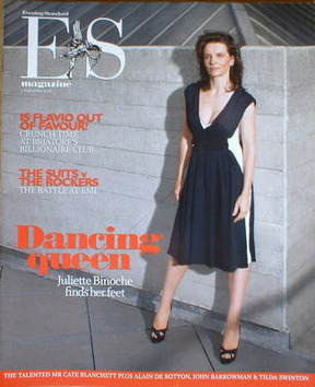 <!--2008-09-05-->Evening Standard magazine - Juliette Binoche cover (5 Sept