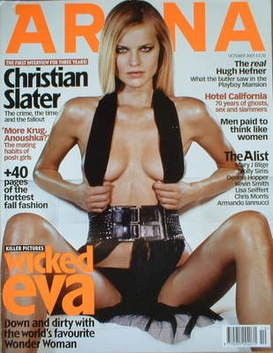 <!--2001-10-->Arena magazine - October 2001 - Eva Herzigova cover