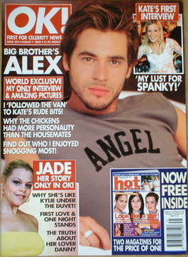 <!--2002-08-07-->OK! magazine - Alex Sibley cover (7 August 2002 - Issue 32