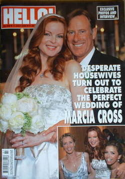 <!--2006-07-11-->Hello! magazine - Marcia Cross wedding cover (11 July 2006
