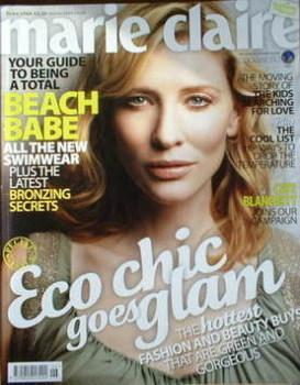 British Marie Claire magazine - June 2008 - Cate Blanchett cover