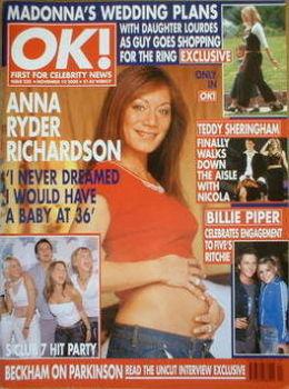OK! magazine - Anna Ryder Richardson cover (10 November 2000 - Issue 238)