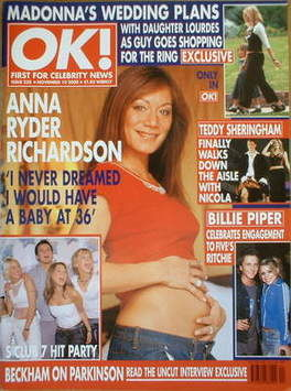 <!--2000-11-10-->OK! magazine - Anna Ryder Richardson cover (10 November 20