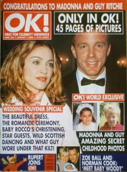 OK! magazine - Madonna and Guy Ritchie cover (5 January 2000 - Issue 245)