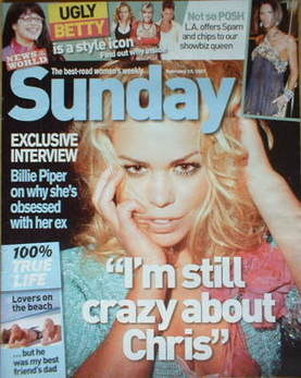 <!--2007-02-18-->Sunday magazine - 18 February 2007 - Billie Piper cover