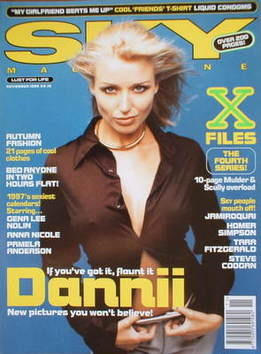 <!--1996-11-->Sky magazine - Dannii Minogue cover (November 1996)