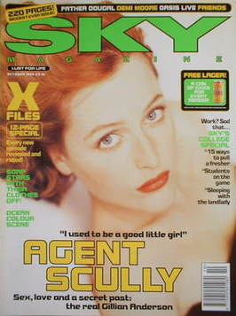 <!--1996-10-->Sky magazine - Gillian Anderson cover (October 1996)