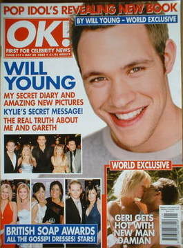 <!--2002-05-30-->OK! magazine - Will Young cover (30 May 2002 - Issue 317)