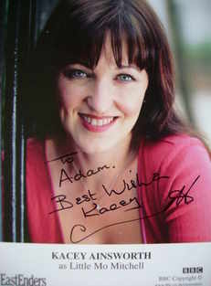 Kacey Ainsworth autograph (ex EastEnders actor)