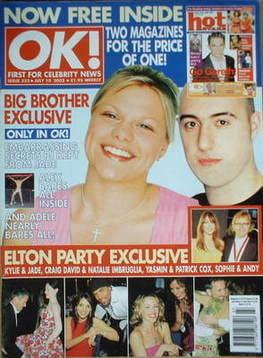 <!--2002-07-10-->OK! magazine - Jade Goody cover (10 July 2002 - Issue 323)