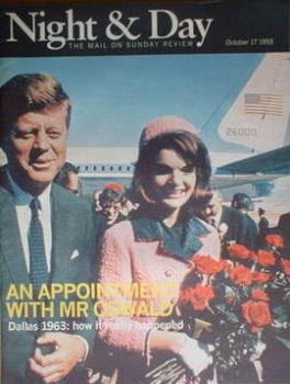 Night & Day magazine - JFK and Jackie Onassis cover (17 October 1993)
