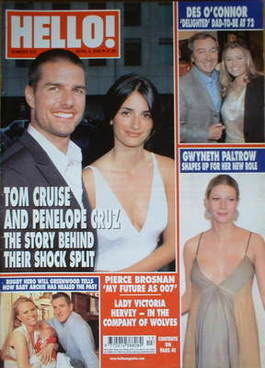 <!--2004-04-06-->Hello! magazine - Tom Cruise and Penelope Cruz cover (6 Ap