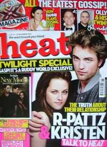 <!--2009-11-14-->Heat magazine - Robert Pattinson and Kristen Stewart cover