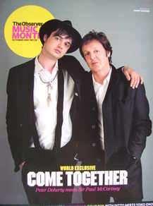 The Observer Music Monthly magazine - October 2007 - Pete Doherty and Paul McCartney cover