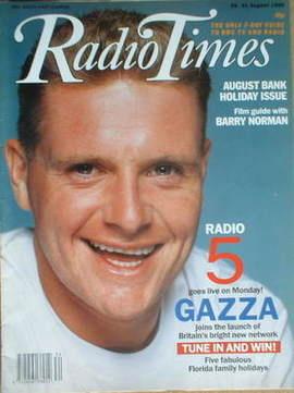 <!--1990-08-25-->Radio Times magazine - Paul Gascoigne cover (25-31 August