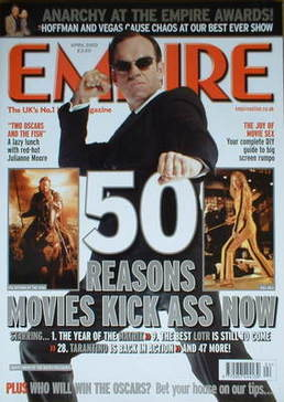 <!--2003-04-->Empire magazine - 50 Reasons Movies Kick Ass Now cover (April