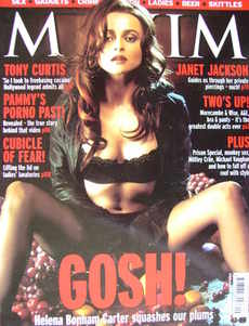 MAXIM magazine - Helena Bonham Carter cover (September 2001)