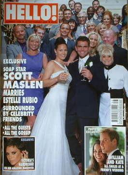<!--2008-09-23-->Hello! magazine - Scott Maslen wedding cover (23 September