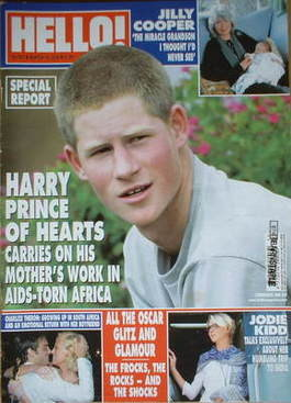 <!--2004-03-16-->Hello! magazine - Prince Harry cover (16 March 2004 - Issu