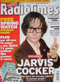 <!--2007-06-09-->Radio Times magazine - Jarvis Cocker cover (9-15 June 2007
