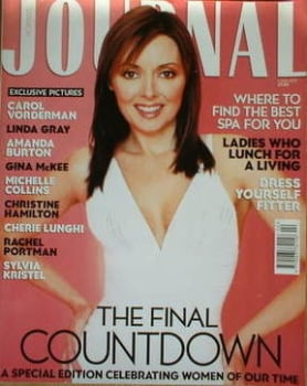 Woman's Journal magazine - February 2002 - Carol Vorderman cover