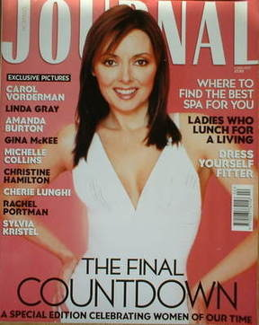 Woman's Journal magazine - Carol Vorderman cover (February 2002)