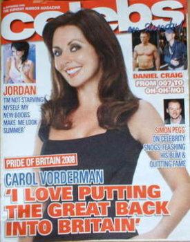 Celebs magazine - Carol Vorderman cover (28 September 2008)