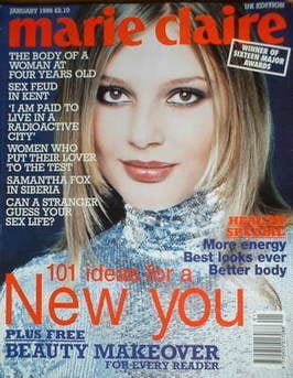 British Marie Claire magazine - January 1996 - Bridget Hall cover
