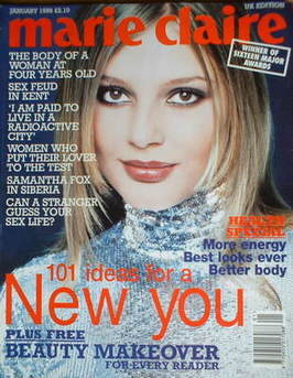 <!--1996-01-->British Marie Claire magazine - January 1996 - Bridget Hall cover