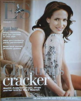 Evening Standard magazine - Sophie Anderton cover (19 December 2003)