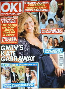 <!--2005-12-06-->OK! magazine - Kate Garraway cover (6 December 2005 - Issu