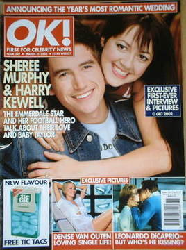 <!--2002-03-21-->OK! magazine - Sheree Murphy and Harry Kewell cover (21 Ma