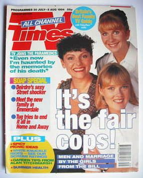 <!--1994-07-30-->TV Times magazine - Louise Harrison, Lisa Geoghan, Kerry P
