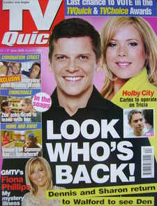 TV Quick magazine - Nigel Harman and Letitia Dean cover (11-17 June 2005)