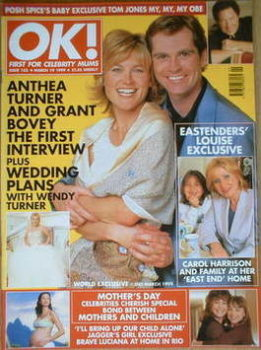 OK! magazine - Anthea Turner and Grant Bovey cover (19 March 1999 - Issue 153)