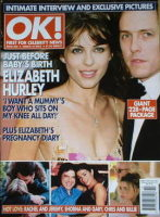 <!--2002-03-14-->OK! magazine - Liz Hurley and Hugh Grant cover (14 March 2002 - Issue 306)