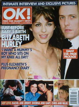 <!--2002-03-14-->OK! magazine - Liz Hurley and Hugh Grant cover (14 March 2