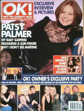 <!--2001-12-20-->OK! magazine - Patsy Palmer cover (20 December 2001 - Issu
