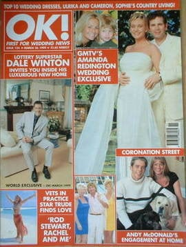 <!--1999-03-26-->OK! magazine - Amanda Redington wedding cover (26 March 19